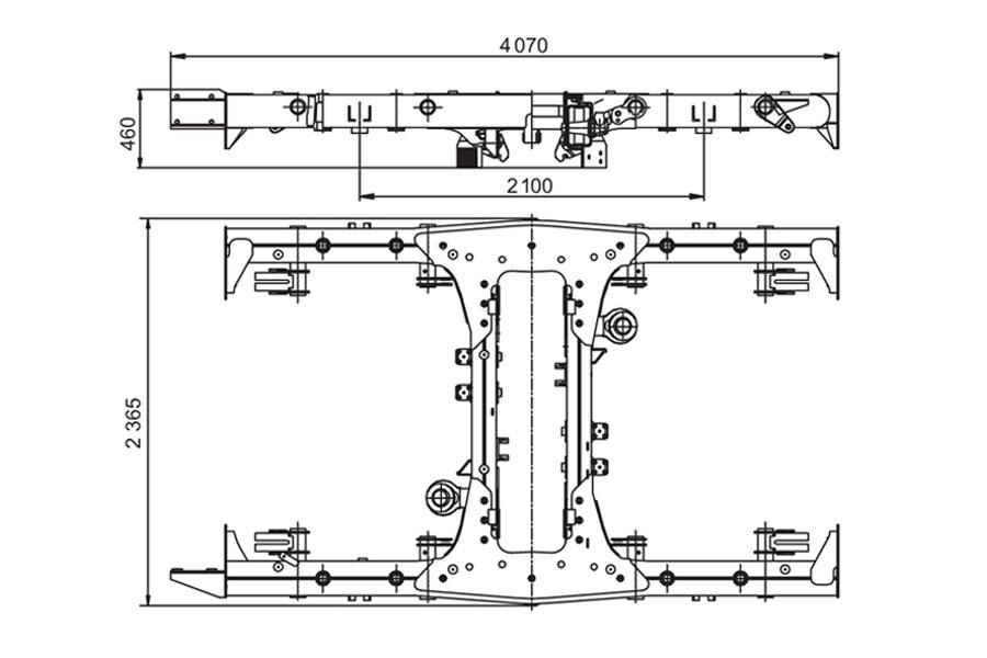 Шпинтонная рама тележки метро модель 81-714.5/717.5