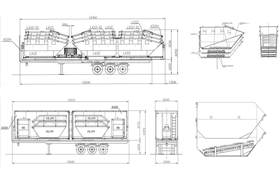 Схема погрузки и пакетирования контейнеров