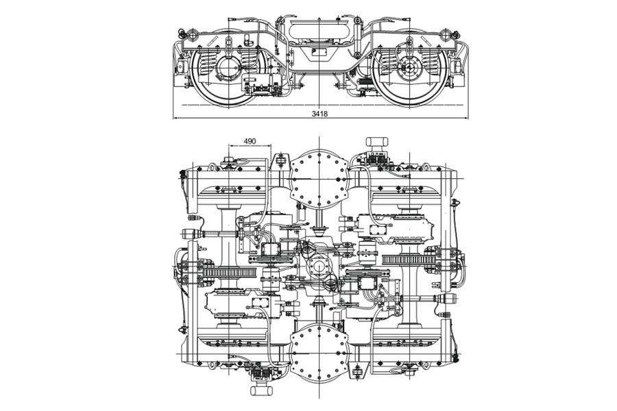 Візок мод. 68-7054 для вагонів метрополітену